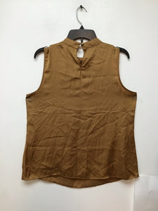 Elementz gold color sleeveless blouse size large
