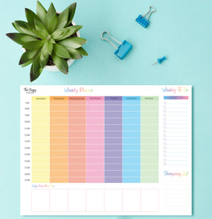 Colourful Weekly Desktop Planner Pad