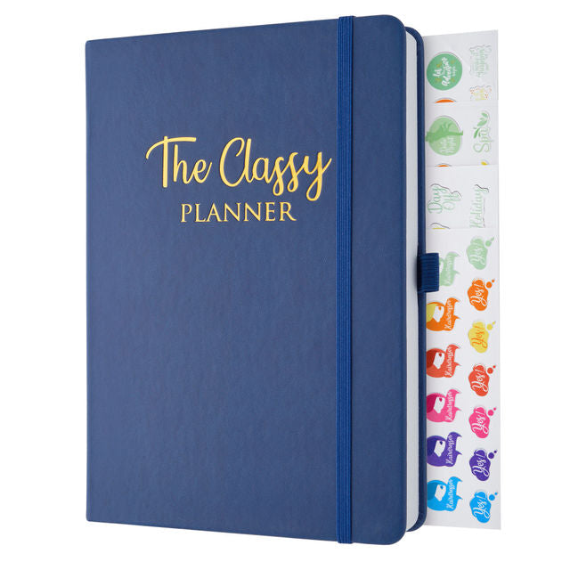 The Navy Blue Classy Planner - Undated Diary