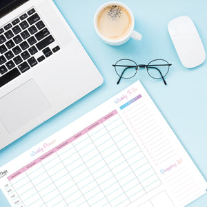 Weekly Desktop Planner Pad with 50 Tear Off Pages