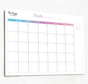 Weekly & Monthly Desktop Planner Pad Bundle with FREE To Do List Included