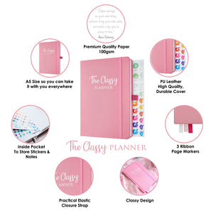 The Pink Classy Planner - Undated Diary