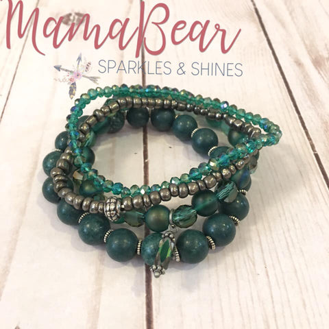 Green with Envy Bracelet Set