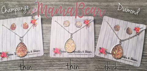 Druzy Teardrop Necklace + Earrings