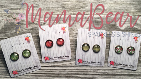 Vintage Holiday Glass Studs