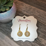 Golden Marble Dangles