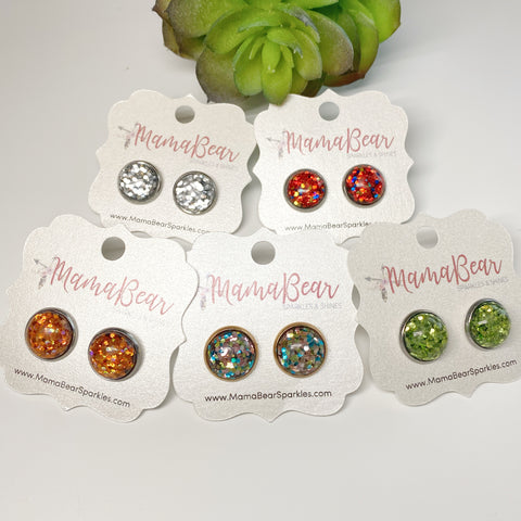 Glitter Glass Studs *new item
