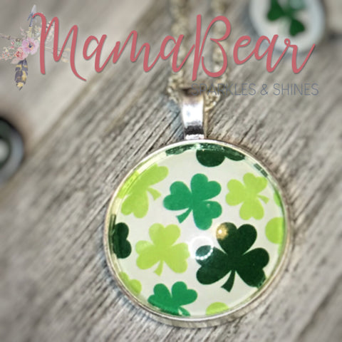Floating Shamrock Necklace