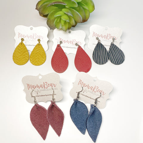 Petite Genuine Leather Dangles