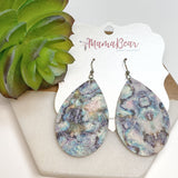 Mother of Pearl Cowhide Dangles
