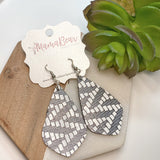Chevron Cowhide Dangles
