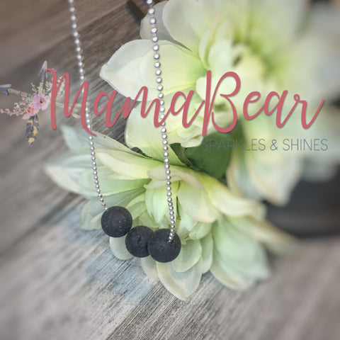 Triple Lava Bead Diffuser Necklace