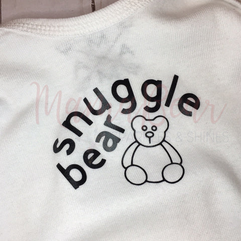 Snuggle Bear ~Infant Baby Layette {Rabbit Skins}