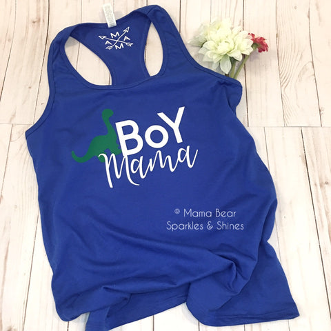 "Ladies' Dino ""Boy Mama"" Tee/Tank"