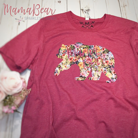 Ladies' Tee Floral Mama Bear