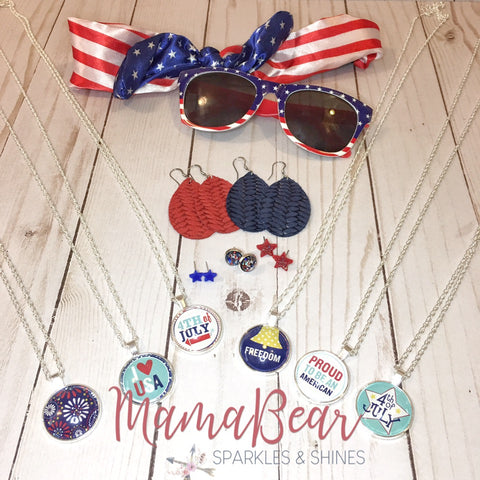 Patriotic Pendant Necklaces