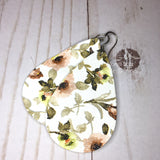 Floral Faux Leather Dangles