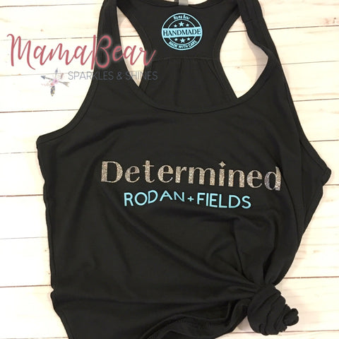"Ladies' Custom ""Determined RODAN + FIELDS"" Racerback Tank"