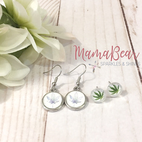 Cannabis/Hemp Glass Studs ~ CUSTOM