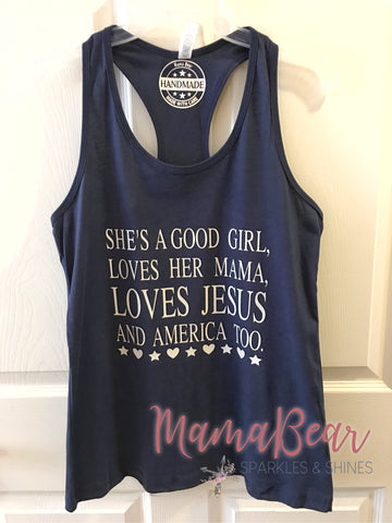 "Ladies' ""She's A Good Girl..."" Racerback Tank"