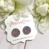 Druzy Studs ~ Rose Gold Setting