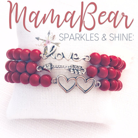 Triple the Love Bracelet Stack