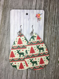 Winter Holiday Faux Leather Dangles