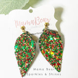 Chunky Glitter Vegan Leather Earrings