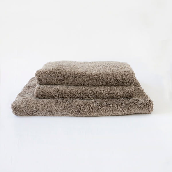 ORGANIC COTTON TOWEL, DUSTY GRAY