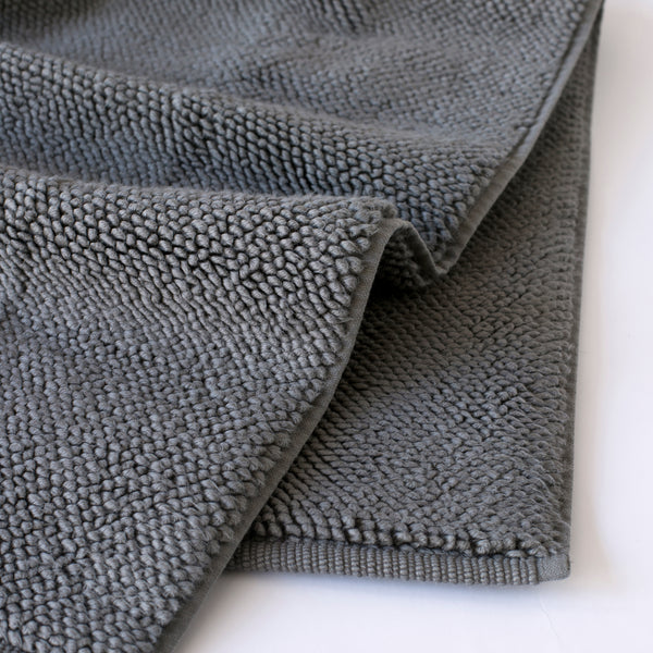 ORGANIC COTTON BATH RUG, DARK GRAY