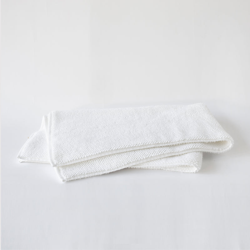 ORGANIC COTTON BATH RUG, WHITE