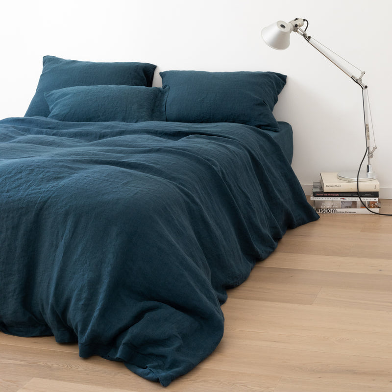 DUVET COVER, DEEP BLUE