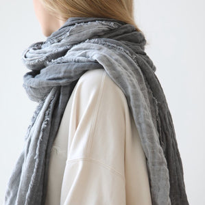 SHAWLS, GRAPHITE/ LIGHT GRAY -SALE