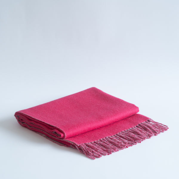 THROW BABY ALPACA WOOL, DOUBLE FACED FUCHSIA