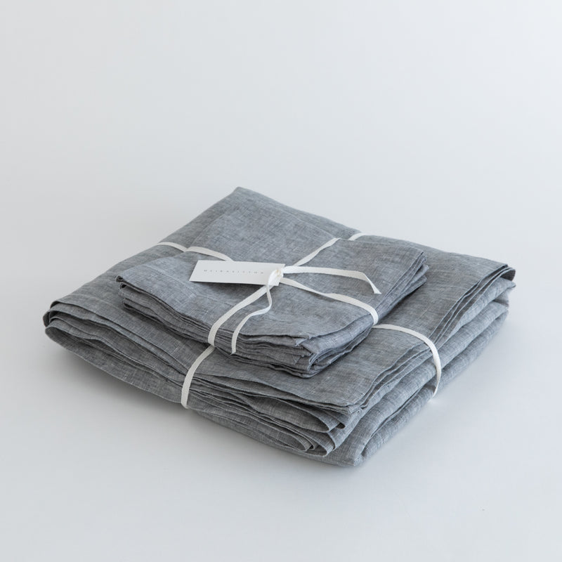 TABLECLOTHS, GRAY MELANGE