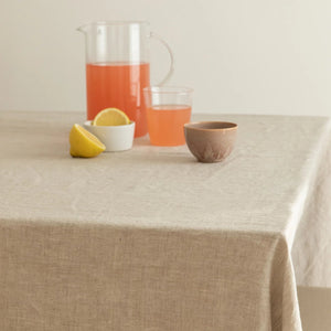 TABLECLOTHS, NATURAL FLAX