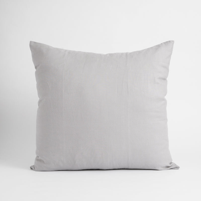 LARGE CLASSIC DECORATIVE PILLOW, CONCRETE GRAY