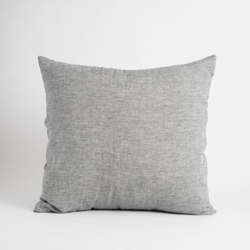 LARGE CLASSIC DECORATIVE PILLOW, GRAY MELANGE