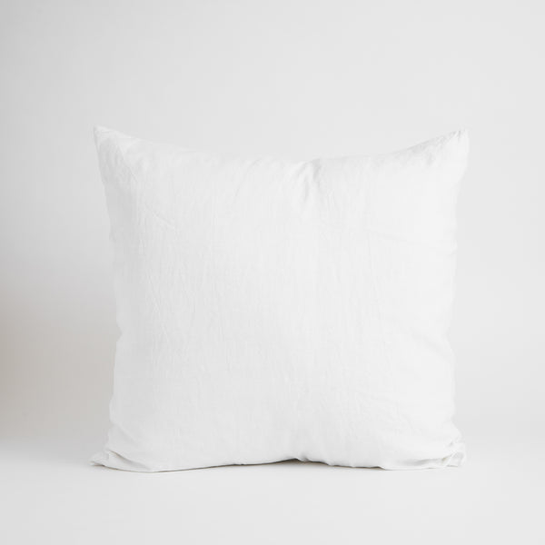 LARGE CLASSIC DECORATIVE PILLOW, WHITE
