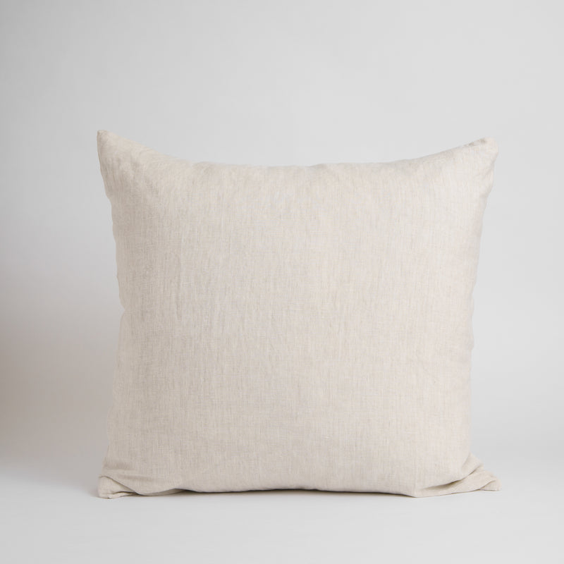 LARGE CLASSIC DECORATIVE PILLOW, NATURAL FLAX