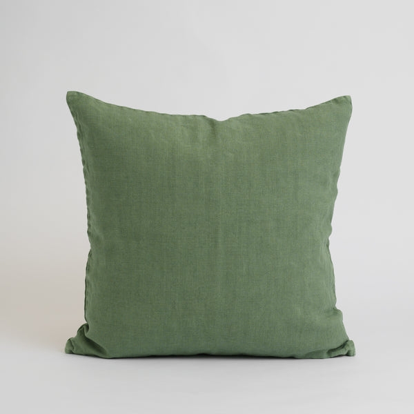 HEAVYWEIGHT LINEN DECO PILLOWS, GREEN