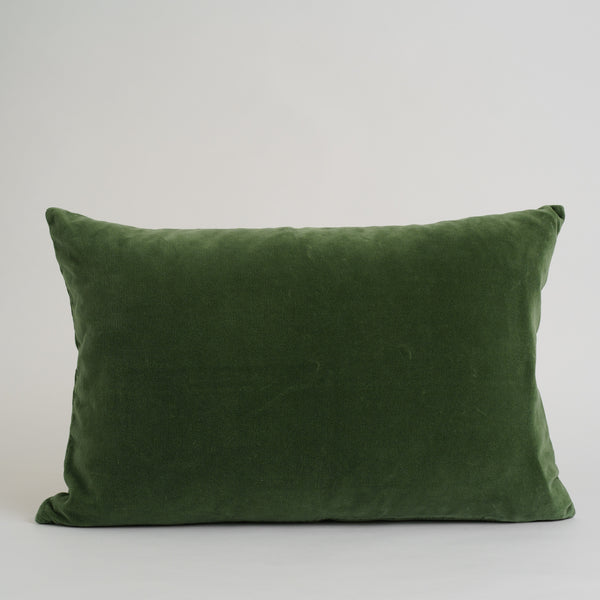 VELVET DECO PILLOWS, GREEN