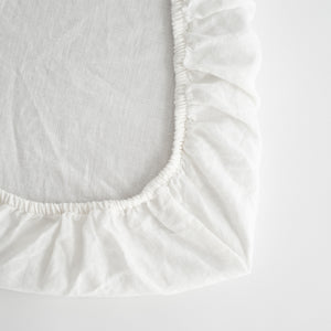 BABY FITTED SHEETS, WHITE