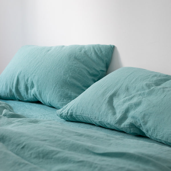 FITTED SHEET, TURQUOISE