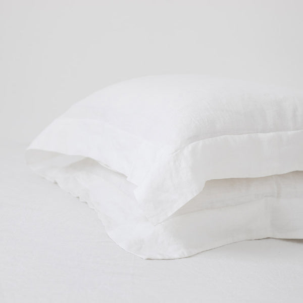 White Sham pillowcases