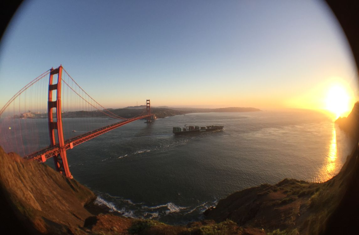 Golden Gate Shot with OlloClip Fisheye Lens