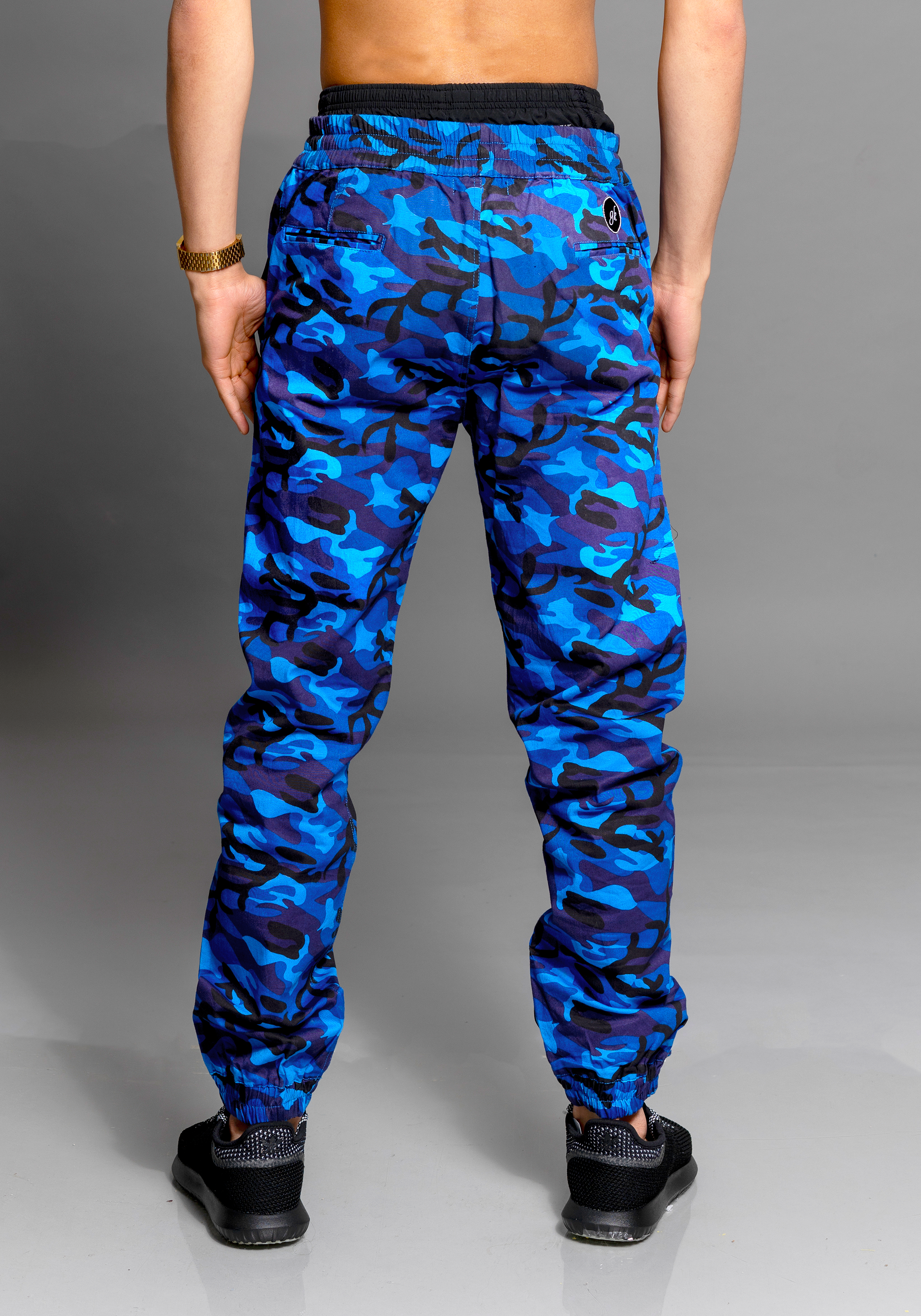 GK CHAMILLION BLUE ARMY JOGGER PANTS