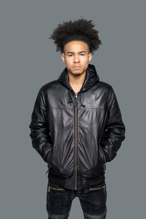 G.K. LAMBSKIN LEATHER BOMBER