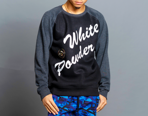 WHITE POWDER TWO TONE CREWNECK
