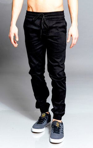 G.K. CHAMILLION BLACK JOGGER PANTS